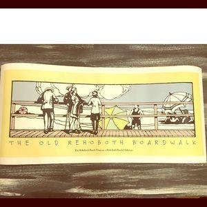 Rehoboth Beach Delaware Old Boardwalk Poster Print
